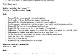 Sample Resume For Kitchen Helper by Sample Resume Kitchen Reentrycorps
