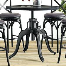 industrial style pub table gorgeous industrial pub table industrial crank adjustable pub table
