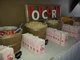 popcorn baskets wedding diy done right popcorn buffet hitched events llc