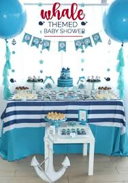 theme baby shower a boy s whale themed baby shower spaceships and laser beams