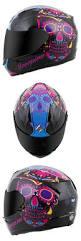 gmax motocross helmets l xl or xxl matte black magenta pink skull peak full face