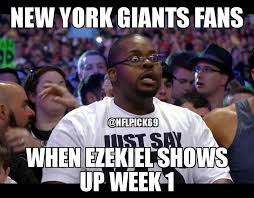 Funny Ny Giants Memes - zeke return meme giants welcome and have fun