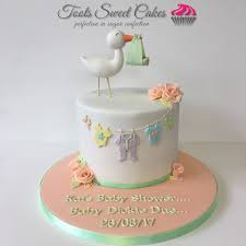 stork cake topper occasion cakes edinburgh by toots sweet