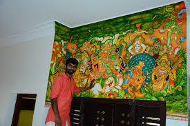 modern mural mural and oil paintings by vipin iritty on behance