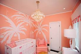 nursery with coral paint hollywood regency nursery sherwin