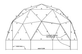 house free dome house plans dome house plans