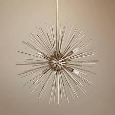 Quorum Pendant Lights Quorum Electra 23 W Silver Leaf 8 Light Pendant Chandelier