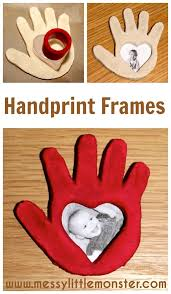salt dough handprint frame eyfs salt dough and craft
