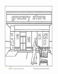 paint places paint the town grocery store worksheet education com