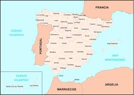 The Map Of Spain by Big Size Detailed Map Of Spain Provinces U2013 Travel Around The World