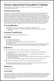 Business Consultant Resume Sample by Process Improvement Consultant Cv Sample Myperfectcv
