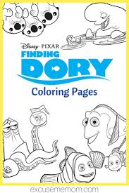 145 best finding dory coloring pages images on pinterest finding