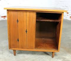 Record Storage Cabinet Mid Century Record Cabinet Walnut Mid Century Modern Record