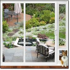 Top Rated Sliding Patio Doors Sliding Glass Patio Pet Door Panel For An Almost Invisible Pet