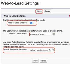 salesforce web to lead forms lead management salesforce tutorial