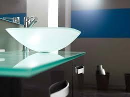 Glass Bathroom Sinks And Vanities Glass Bathroom Sink Unit Enhancing The Bathroom With Glass