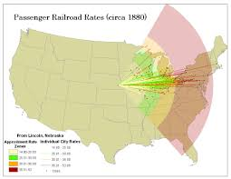 Travel Time Map Railroads And The Making Of Modern America Views