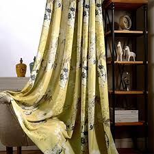 Yellow Curtains For Bedroom Yellow Curtains Blackout Lined Drapes Anady Top Bright White Flower