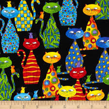 love my cats fabric by timeless treasures for clothing crafting
