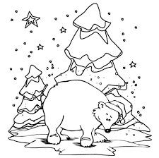 polar bear color page polar bear winter animal coloring pages animal coloring pages