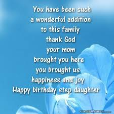 birthday wishes for stepdaughter cards wishes