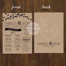 rustic wedding programs hadley designs wedding programs how to