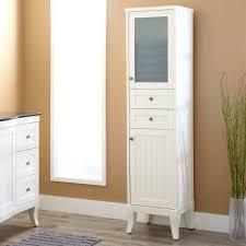 Bathroom Linen Closet Ideas Simple White Linen Cabinet For Elegant Bathroom 12 Inch Wide
