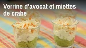 cuisine de a a z verrine recette verrine d avocat et miettes de crabe