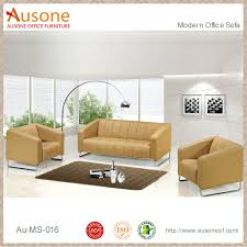 Modern Office Sofa Set China Wholesale Cheap Price High Quality Steel Frame Yellow