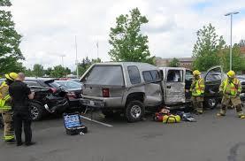 pickup truck hits garage door six cars in battle ground kptv