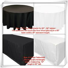 standard party table size pg party rentals decor