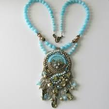 beaded pendant necklace designs images How to make a pendant with art beads free tutorial jpg