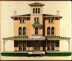 the picturesque style italianate architecture painting the
