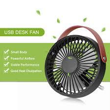 Quiet Desk Fan Konesky Small Desk Usb Cooling Fan With Leather Handle Quiet