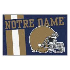 university of notre dame area rugs rugs the home depot