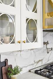 glass door kitchen cabinet decor oval trim on glass front cabinets design ideas