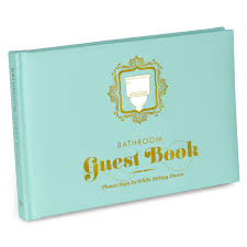 Funny Bathroom Gifts Amazon Com Knock Knock Bathroom Guest Book 50012 Office Products