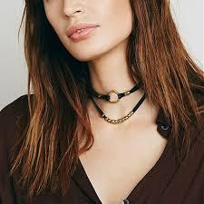 black double choker necklace images Double layer 90s choker necklace black velvet rope necklaces with jpg