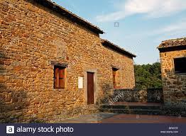 leonardo da vinci house vinci tuscany italy stock photo royalty