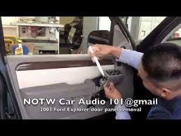 2003 Ford Expedition Interior Parts How To Remove 2003 Ford Explorer Door Panel Youtube