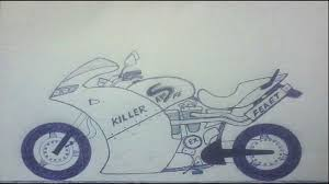drawn motorcycle sport motorcycle pencil and in color drawn