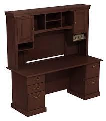 Bush Desk With Hutch by Bush Furniture Vantage Corner Desk Harvest Cherry