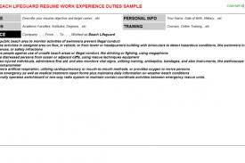 Lifeguard Job Duties For Resume by Job Description For Lifeguard Resume Lifeguard Resume Sample
