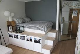 meubles ikea chambre lit ikea diy pour stockage plateforme bidouilles ikea bed
