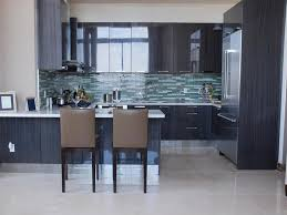 considering the dark and cool black kitchen cabinets with white
