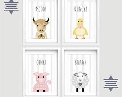 Farm Animal Nursery Decor Farm Nursery Decor Etsy