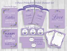 invitations by susan weddings by susan 7 piece printable bridal shower package