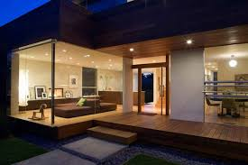 decoration california design houses glass wall house with open