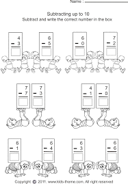 worksheets for kids worksheet 5 subtract numbers and write