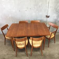 vintage mid century dining set by kipp stewart for drexel